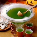 dry ice emergency ice green halloween punch