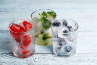 ice cube frozen fruit
