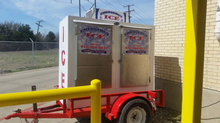 Emergency Ice convenience trailer