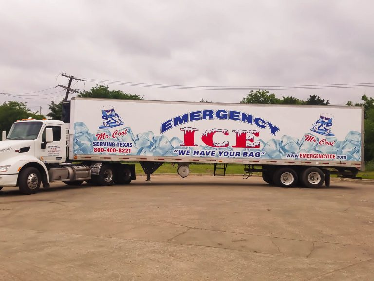 Emergency Ice - Full Size Trailer - Tractor Trailer Ice Delivery and Service