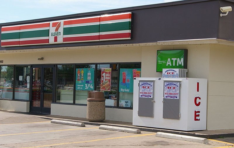 Ice Bags at 7-Eleven