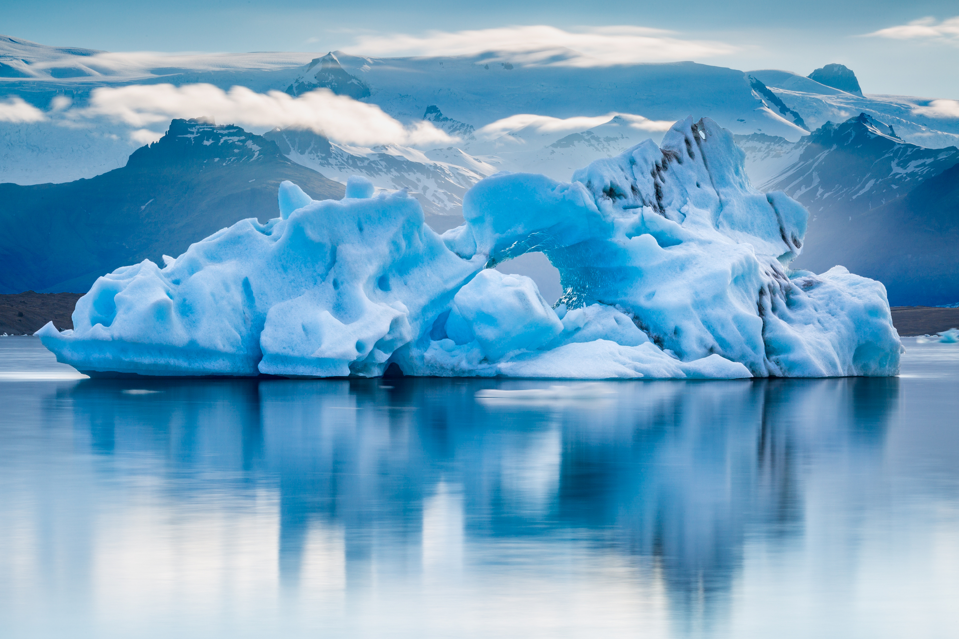 Artic Iceberg in water