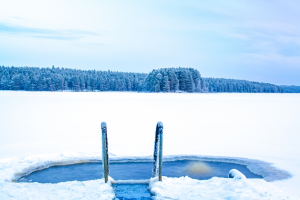 Ice swimming place for Ice therapy
