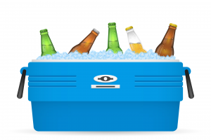 Beer ice cooler or beer ice box vector on white background
